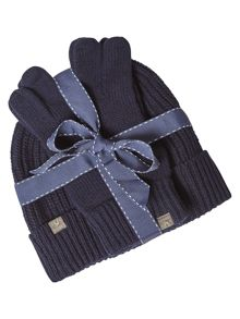 White Stuff Peter hat and glove gift set
