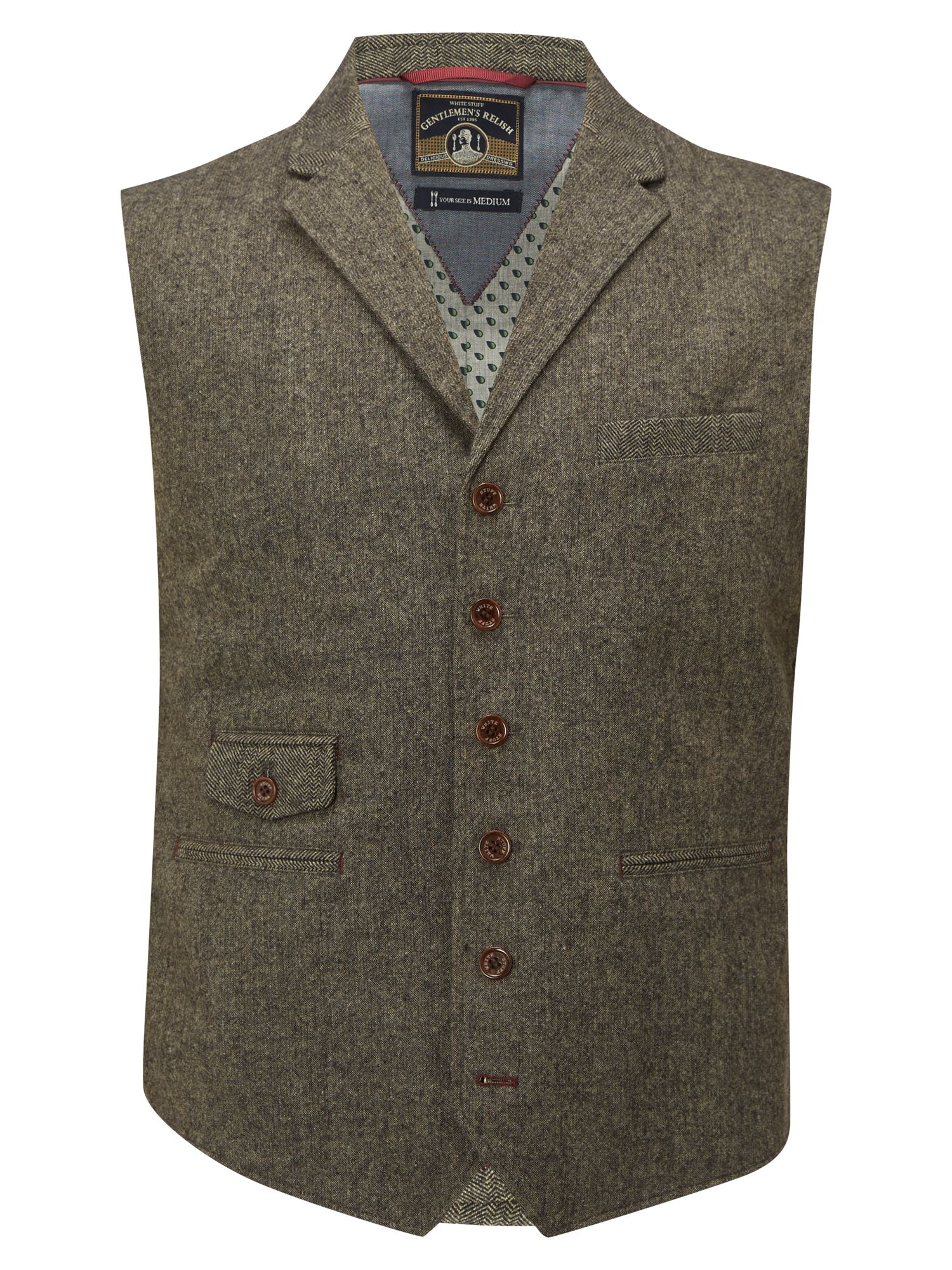 1920s Style Mens Vests Mens White Stuff Thunder waistcoat Biscuit £69.95 AT vintagedancer.com