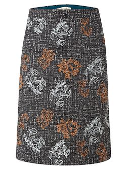 Veg Patch Tweed Emb Skirt