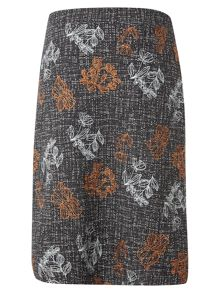 White Stuff Veg Patch Tweed Emb Skirt