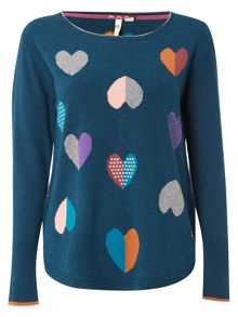 White Stuff Valentine Heart Jumper