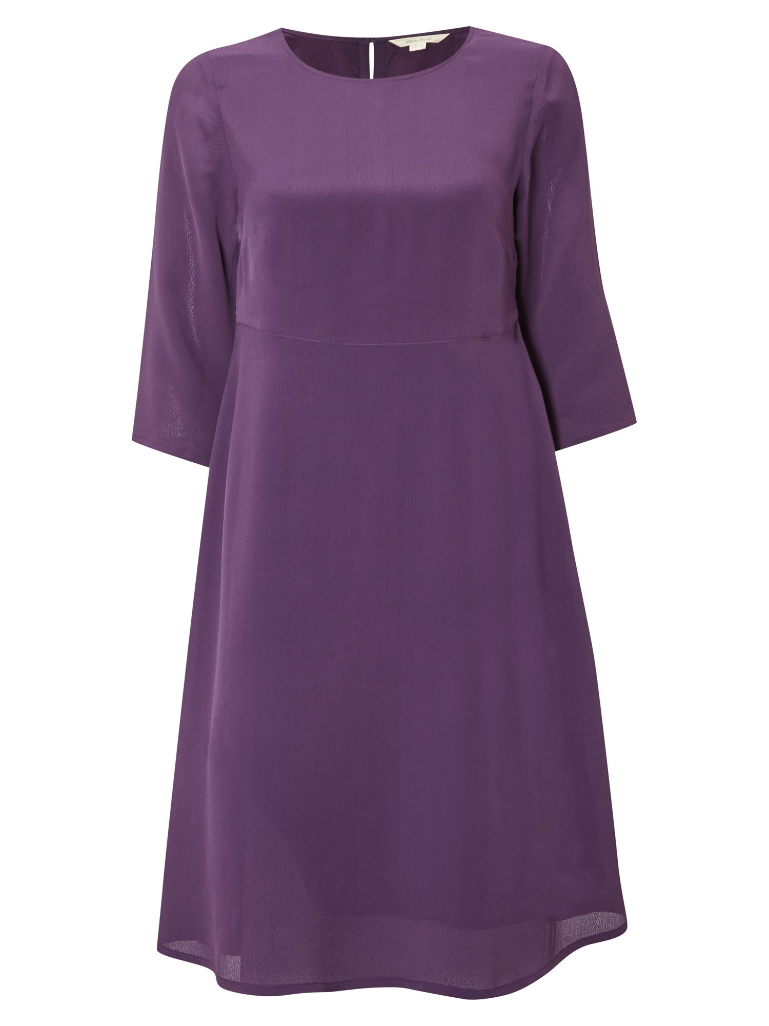 White Stuff Plain Nicole Dress, Purple