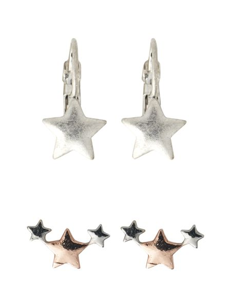 White Stuff Star Earring Multi Pack