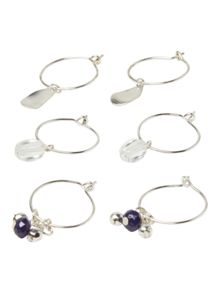 White Stuff Hoop Earring 3 Pack