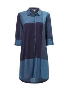 White Stuff Azure Check Tunic
