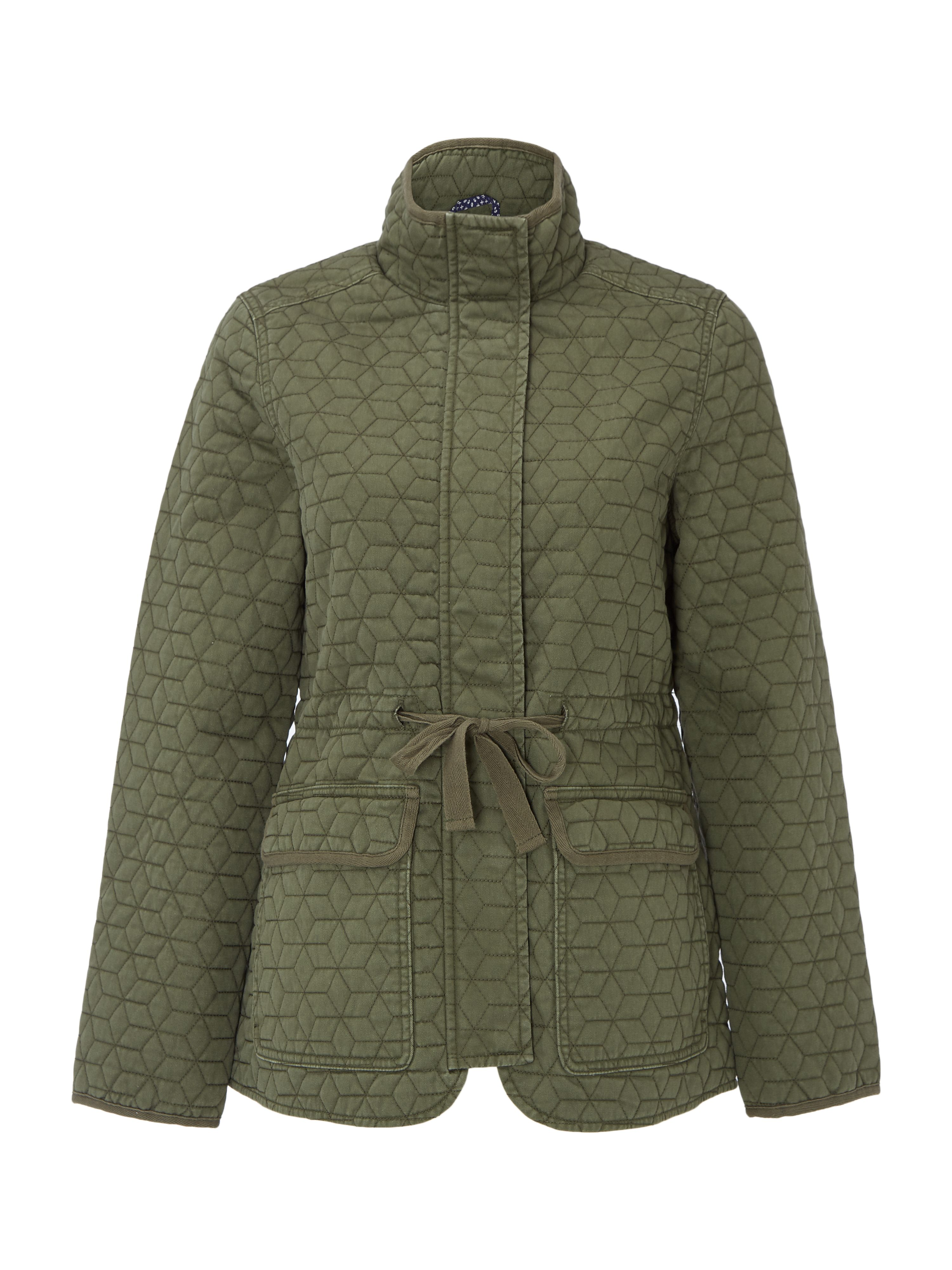 White Stuff Indus Quilted Jacket, Khaki