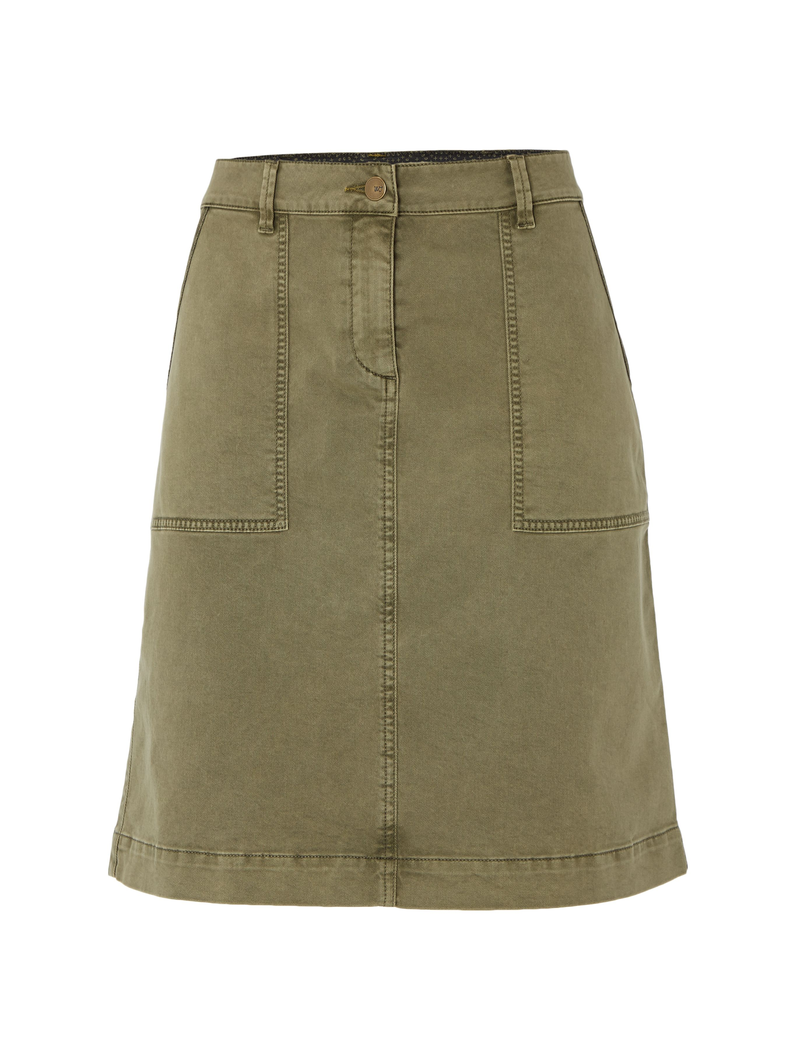 White Stuff Bessie Chino Skirt, Khaki