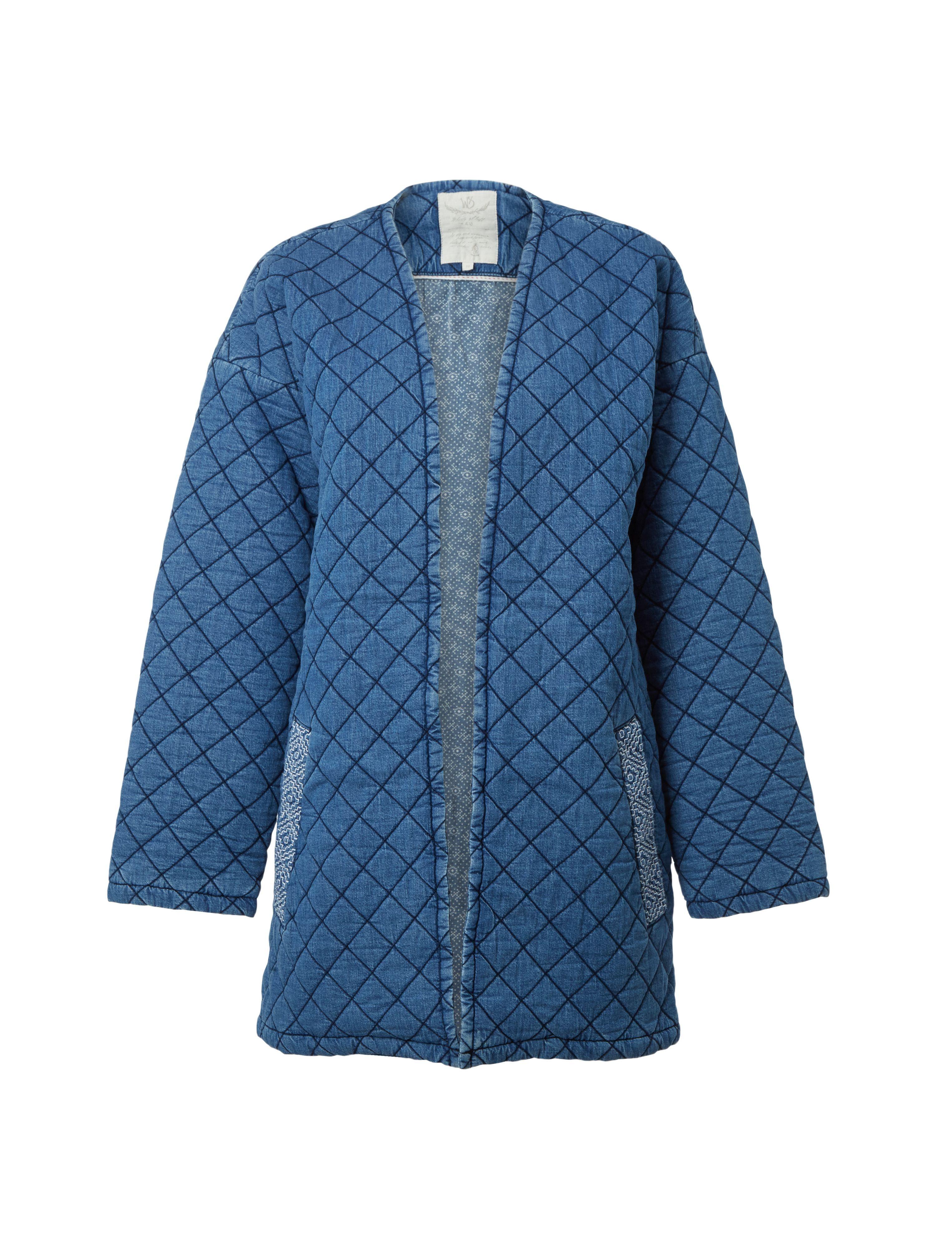White Stuff Quilted Homespun Jacket, Blue
