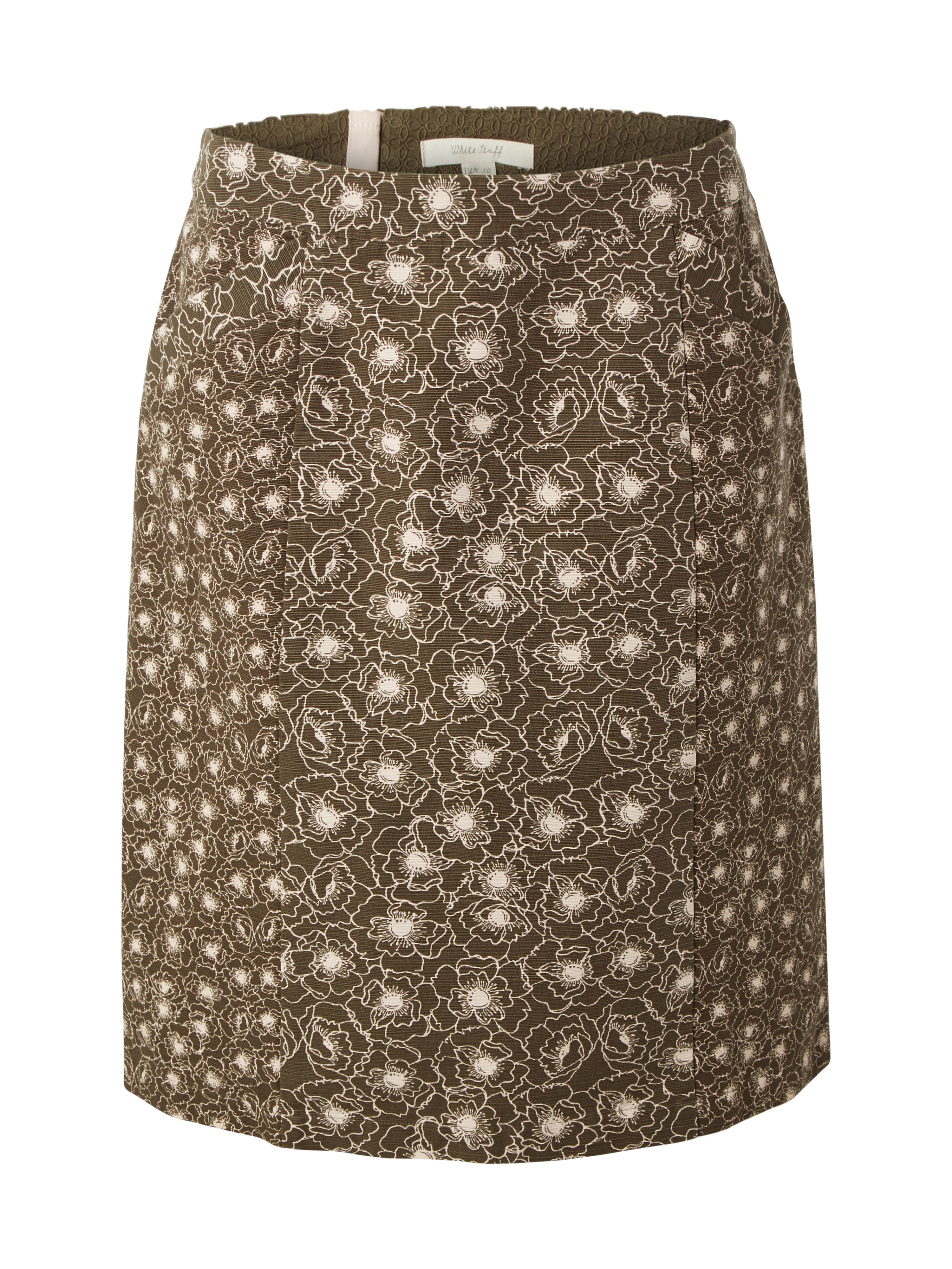 White Stuff Poppy Seed Skirt, Green