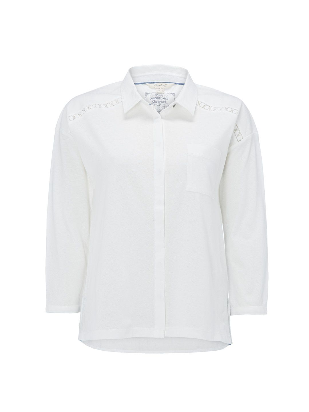White Stuff Yannie Yoke Jersey Shirt, White