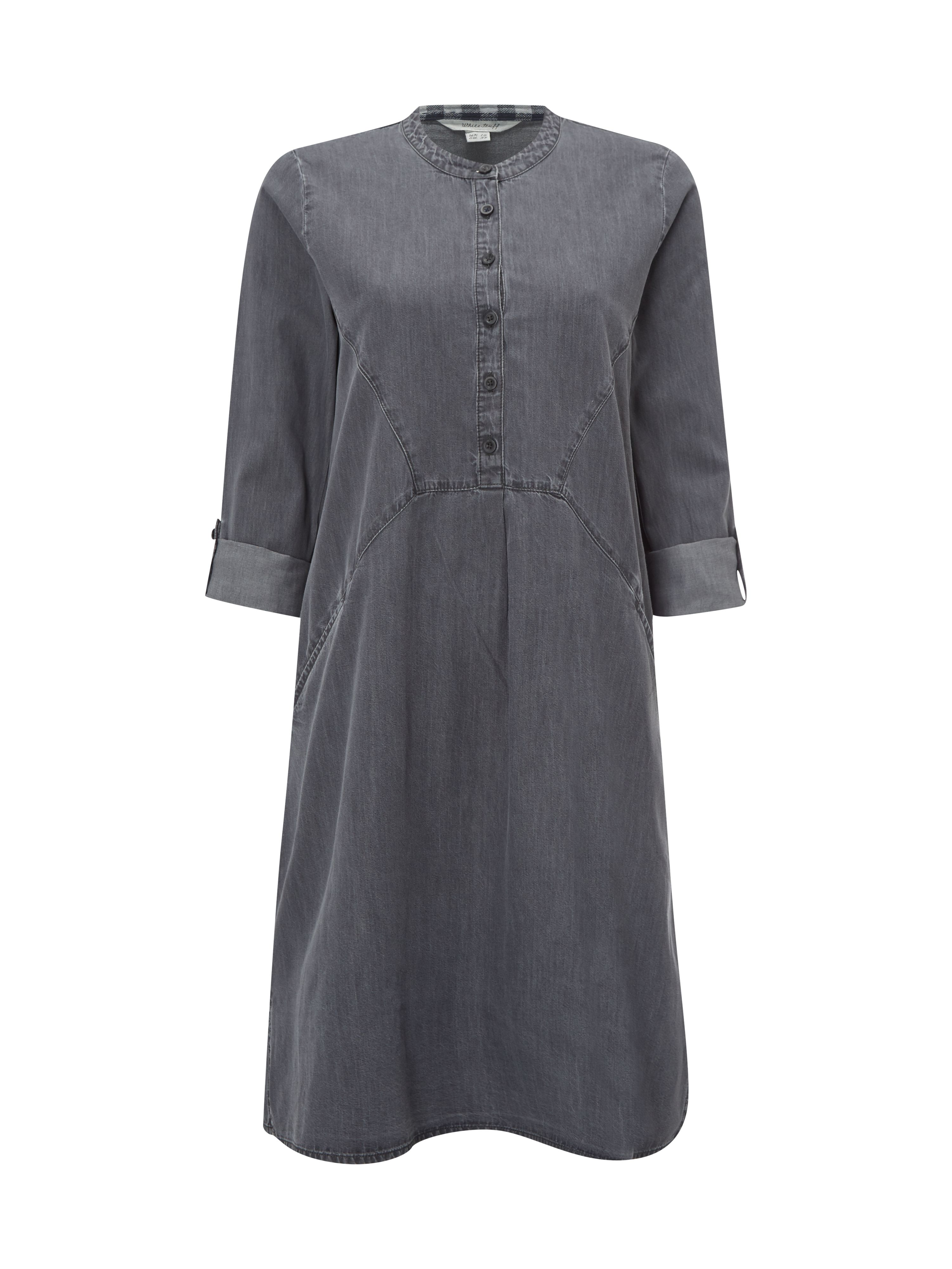 White Stuff Walking Shadows Denim Dress, Grey