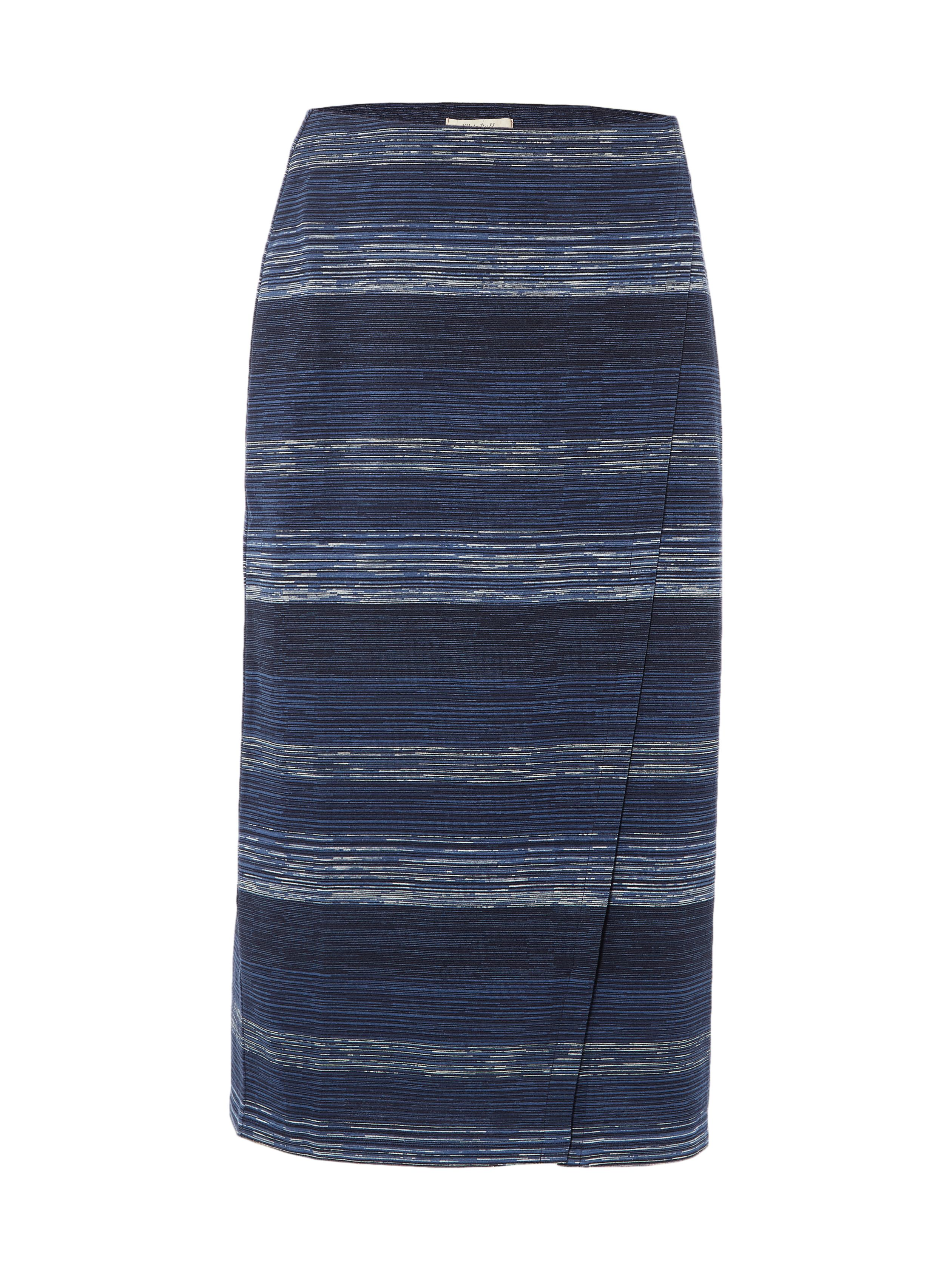 White Stuff Gradient Jersey Skirt, Blue
