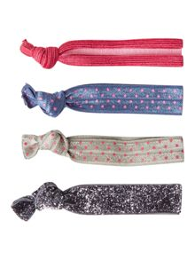 White Stuff Interest Fabric Hair Ties