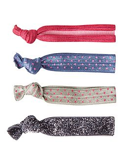 Interest Fabric Hair Ties