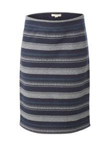 White Stuff Shadow Stripe Jersey Skirt