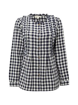 Gingham Moonlight Top