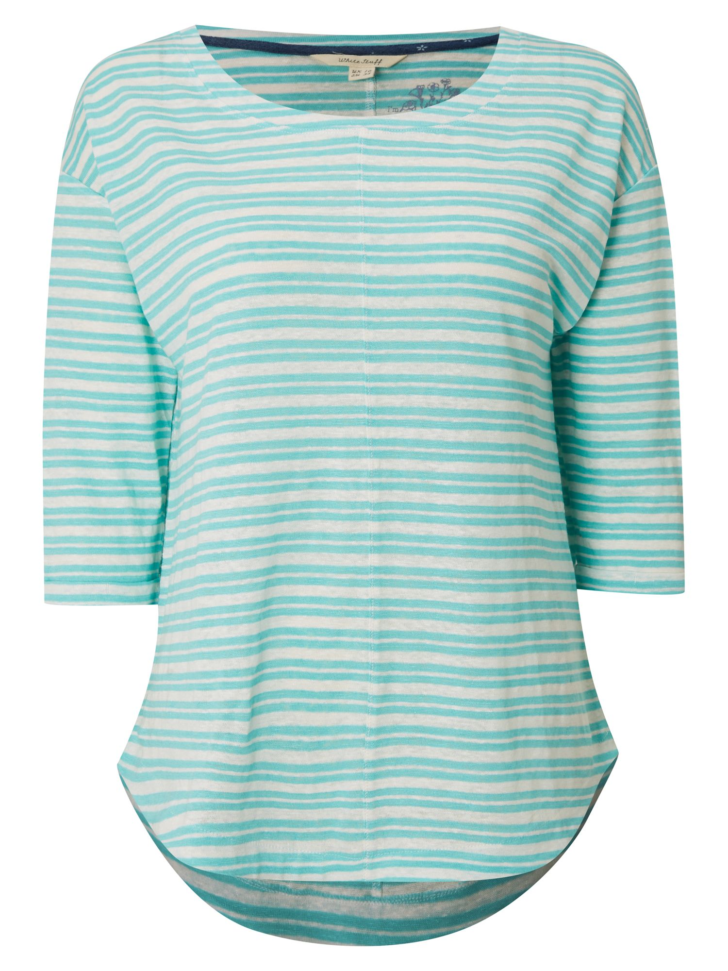White Stuff Hadley Stripe Jersey Tee, Green