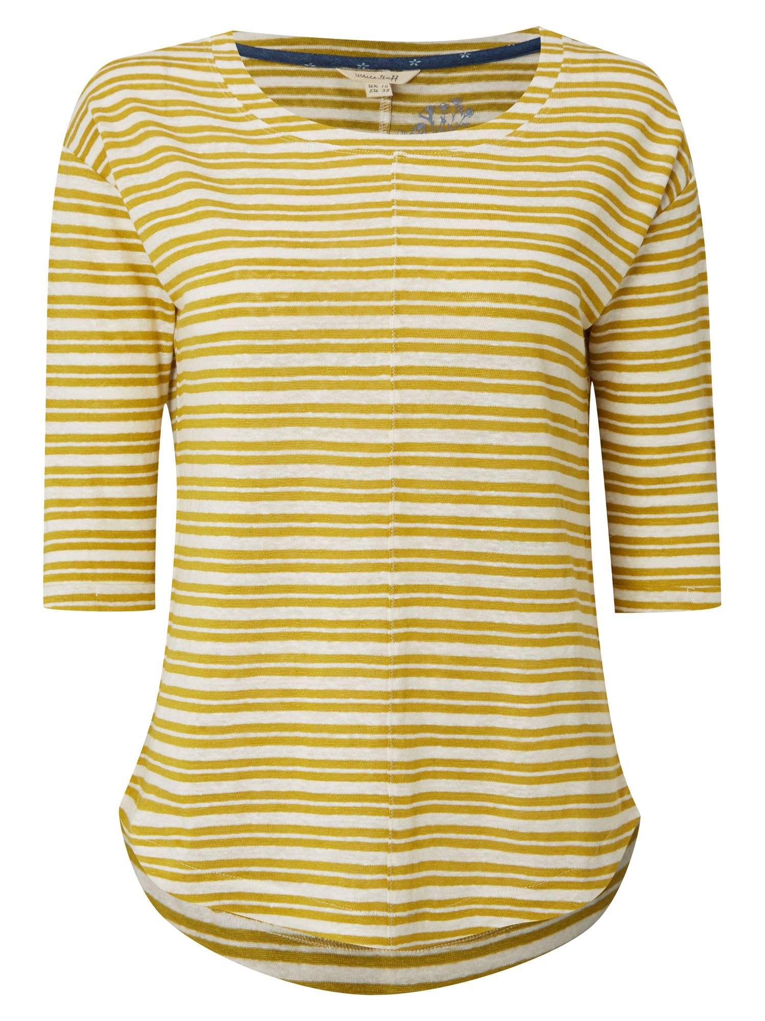 White Stuff Hadley Stripe Jersey Tee, Yellow