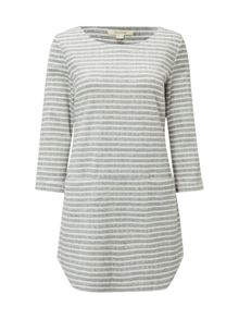 White Stuff Shashiko Stripe Jersey Tunic