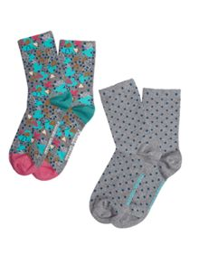White Stuff Follow Your Heart Sock 2 Pack