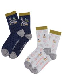 White Stuff Foxy In The Glade Socks 2 Pack
