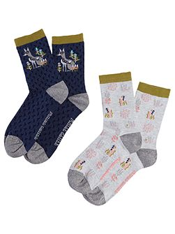 Foxy In The Glade Socks 2 Pack
