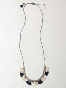 White Stuff Holly Tassel Necklace