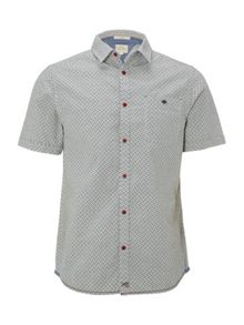 White Stuff Rambling crosshatch short sleeve shirt
