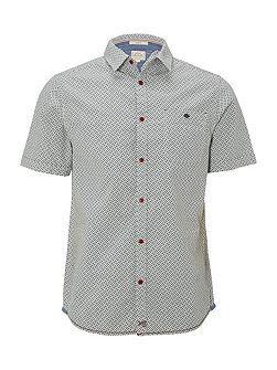 Rambling crosshatch short sleeve shirt