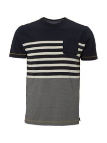 White Stuff Swag engineer stripe short sleeve tee