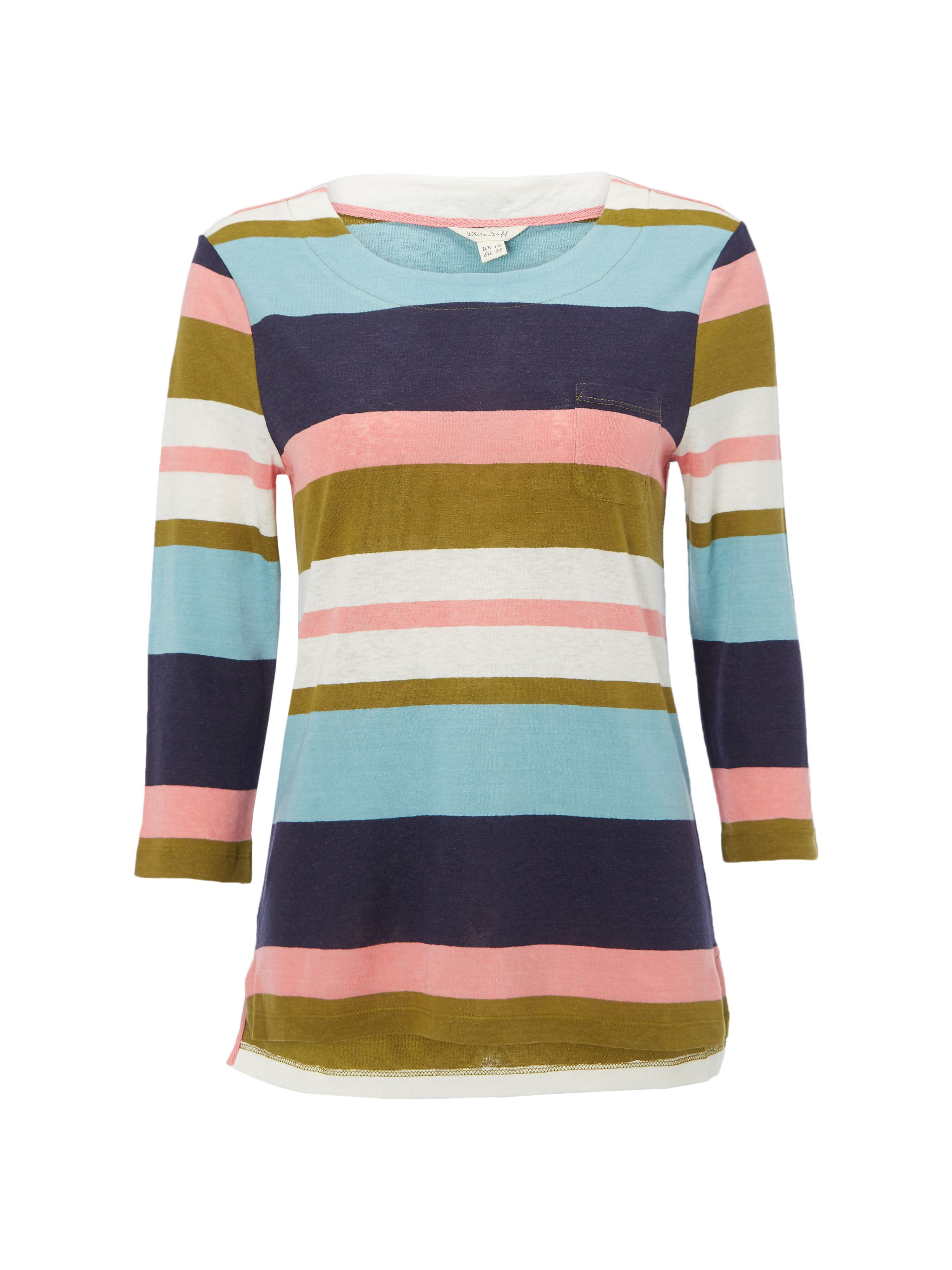 White Stuff Polly Bold Stripe Jersey Tee, Multi-Coloured