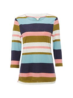 Polly Bold Stripe Jersey Tee