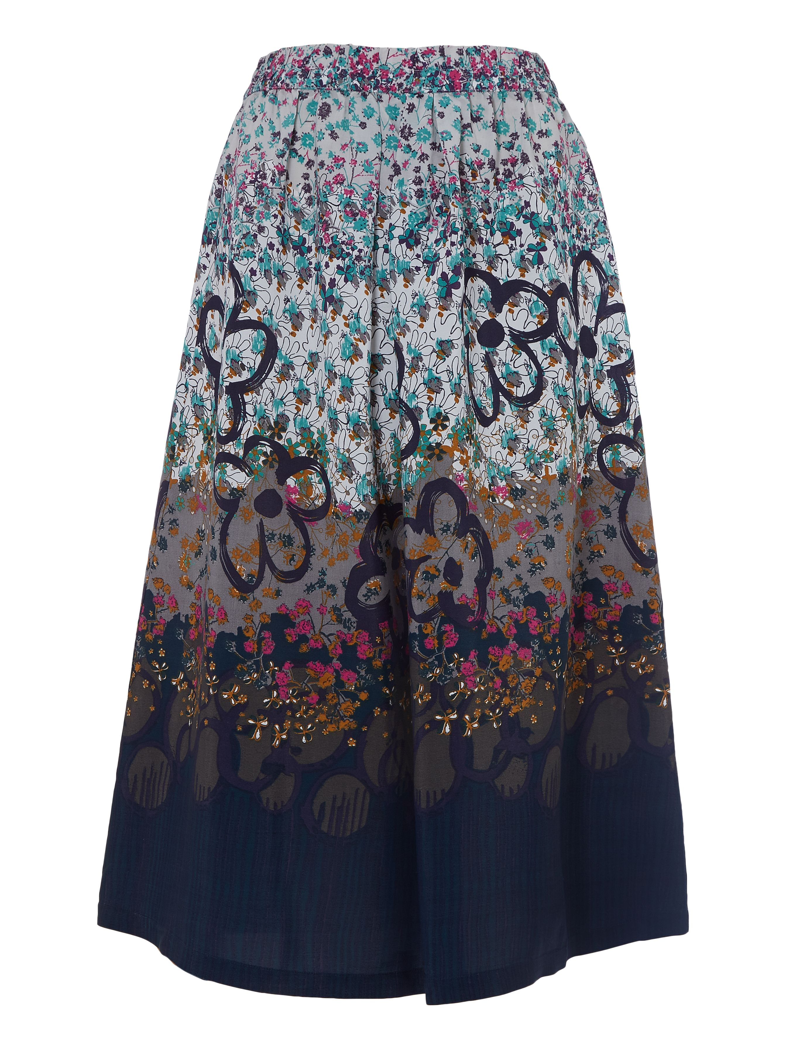 White Stuff Freesia Printed Midi Skirt, Multi-Coloured