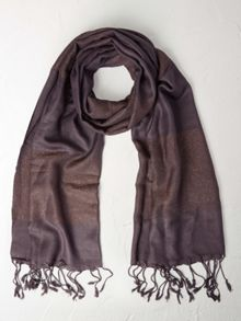 White Stuff Wide Shimmer Stripe Scarf