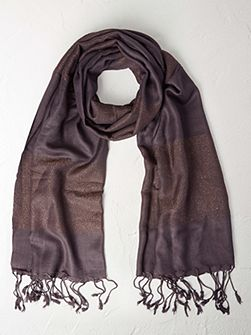 Wide Shimmer Stripe Scarf