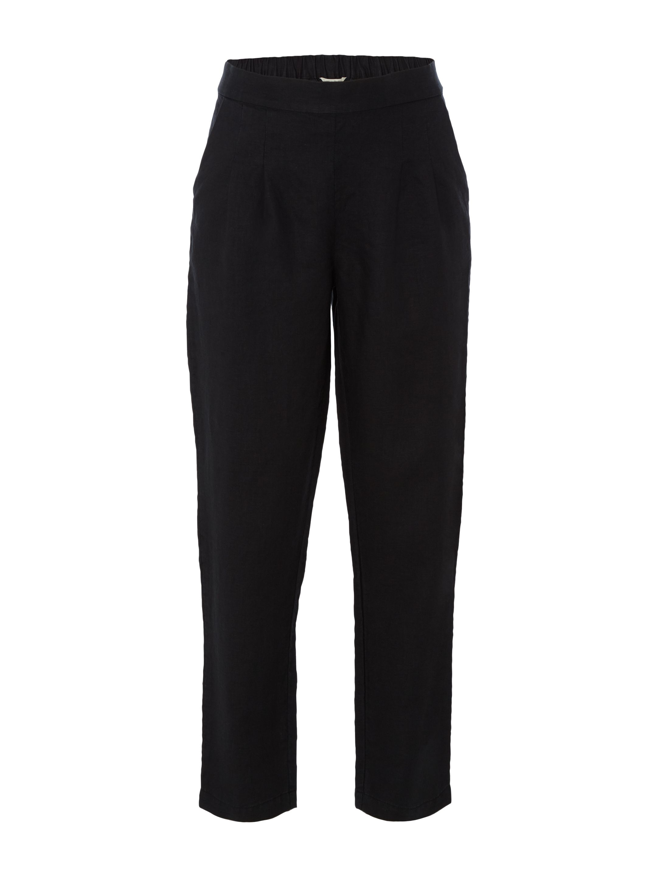 White Stuff Maison Linen Trousers, Black