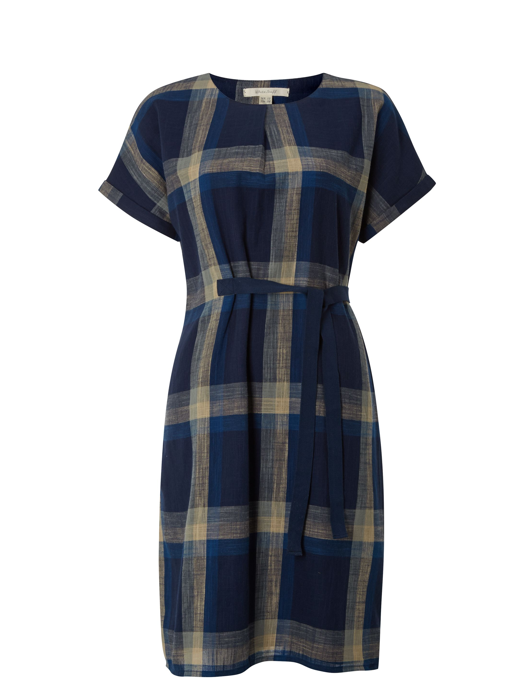 White Stuff Check Mate Dress, Blue
