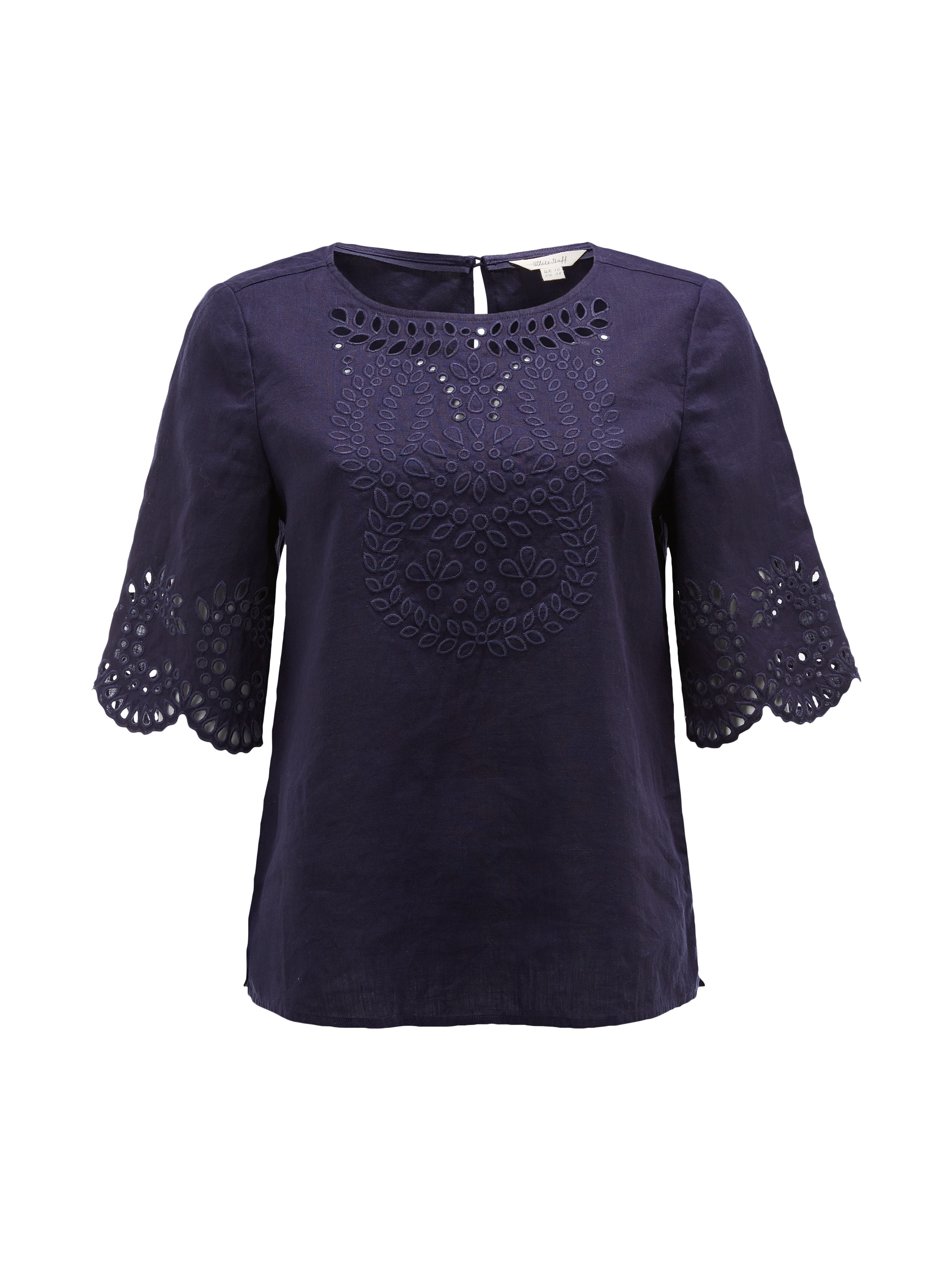 White Stuff Cutwork Karala Top, Ink
