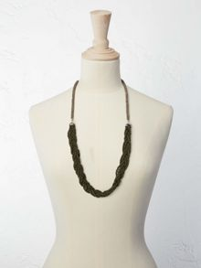 White Stuff Plaited Millie Necklace