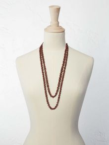 White Stuff Mossy Bead Necklace