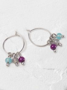 White Stuff Willow Bead Hoop Earring