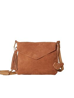 Suede Mandy Crossbody Bag