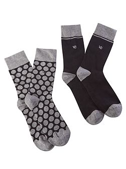 Single spot 2 pack socks