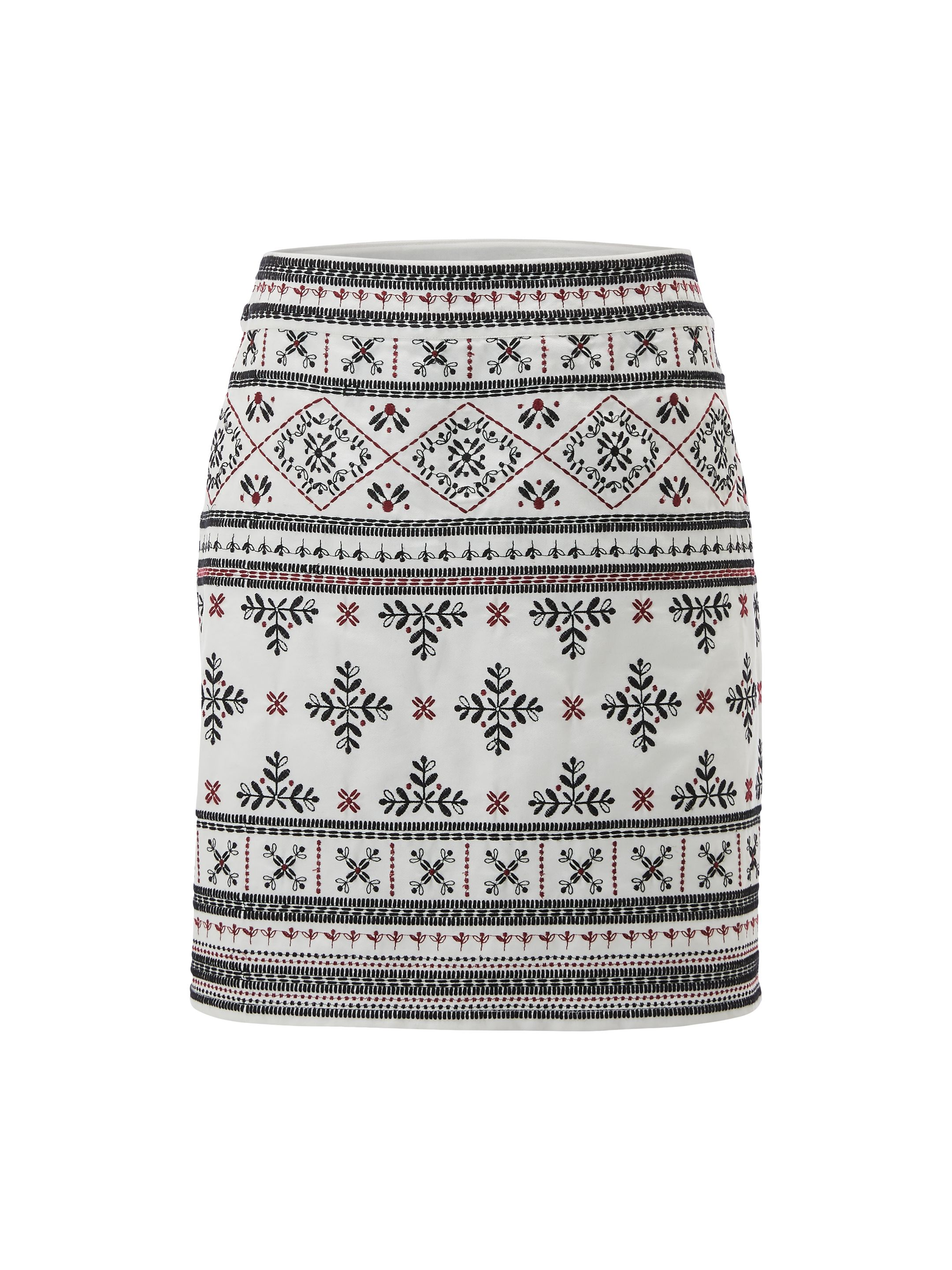 White Stuff Treasure Me Skirt, Natural