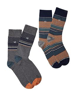 Pete patch 2 pack socks