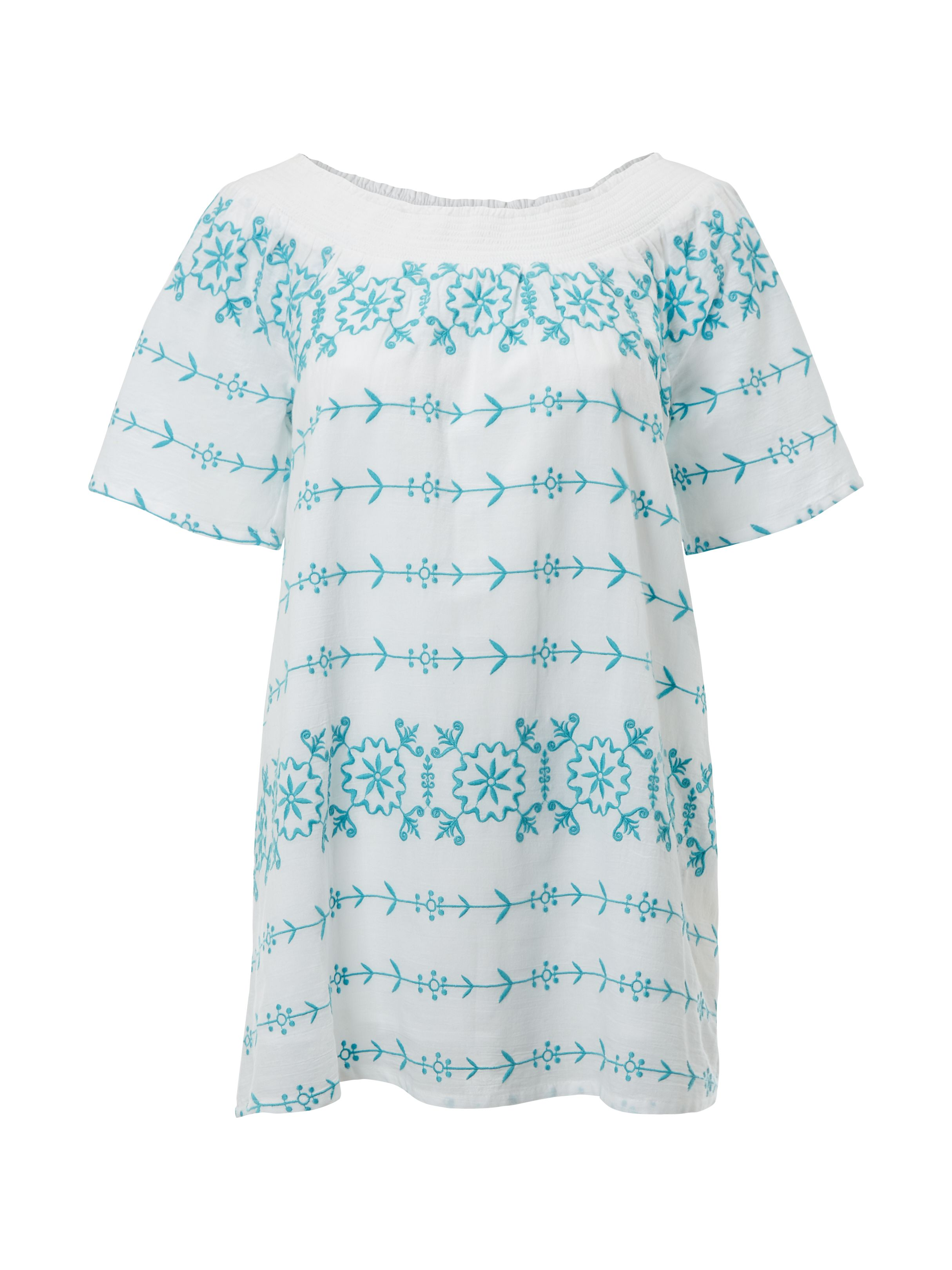 White Stuff Effie Bardot Tunic, Blue