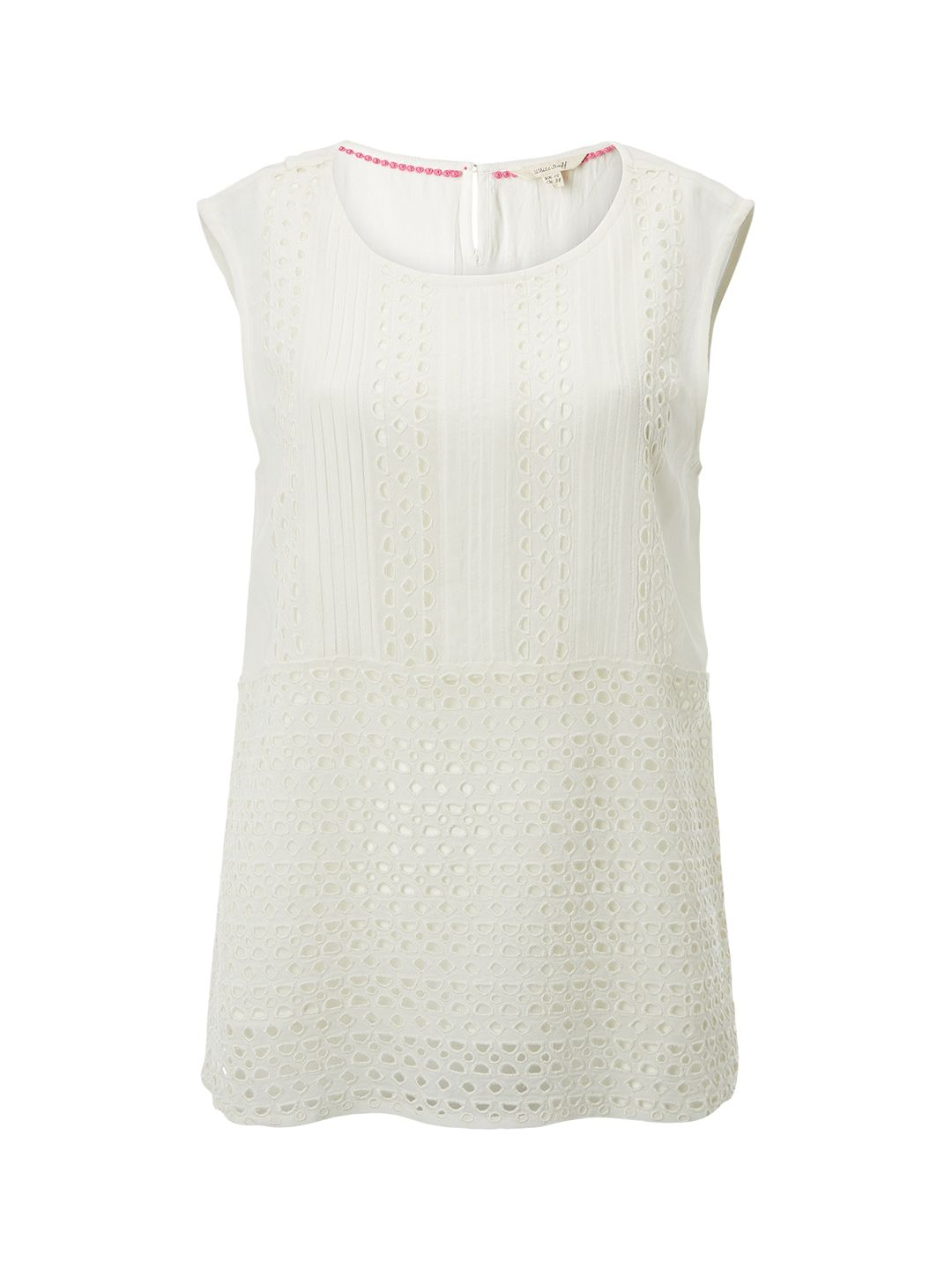 White Stuff Esme Cutwork Vest, Cream