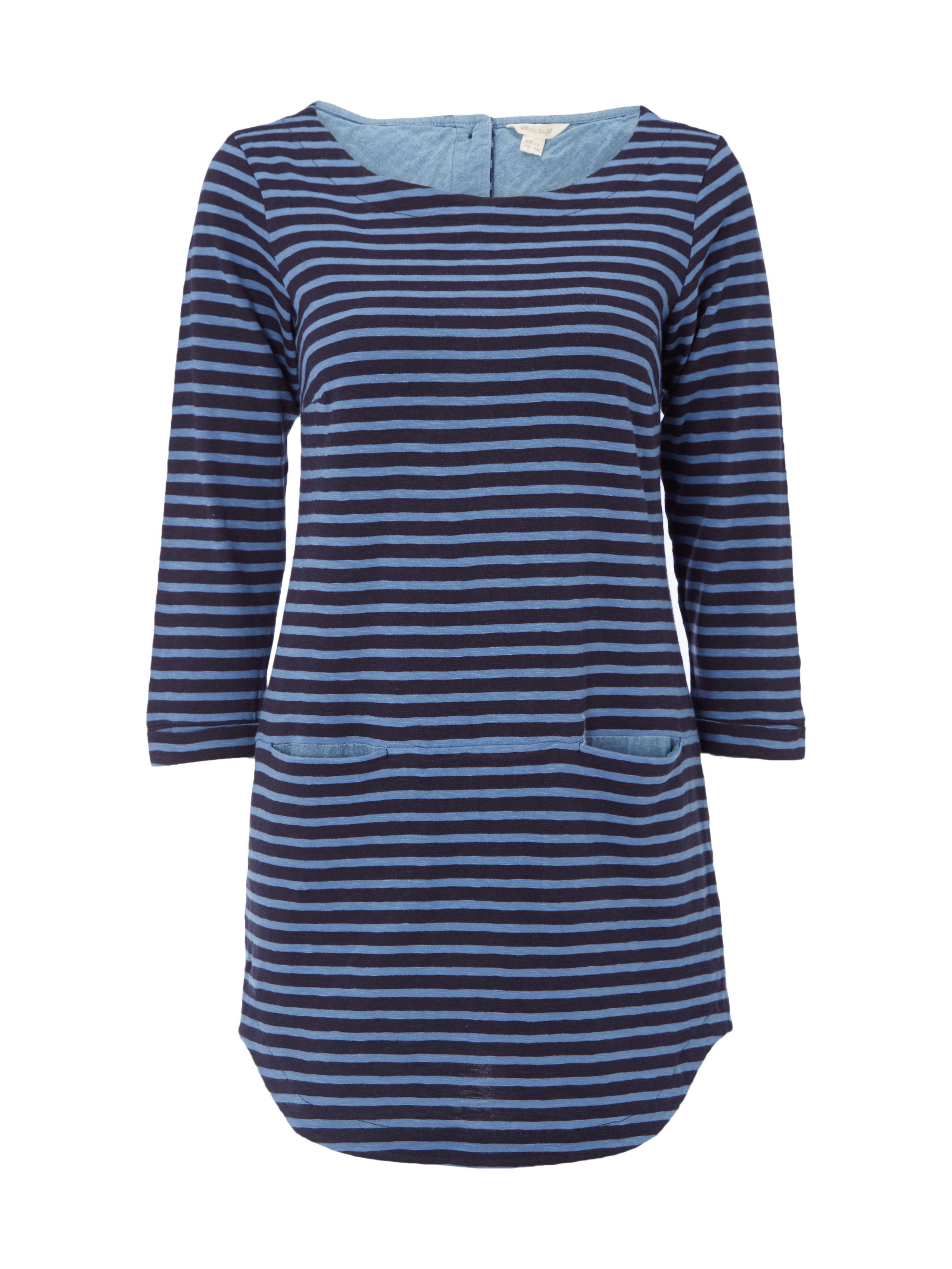 White Stuff Stripe You Jersey Tunic, Blue