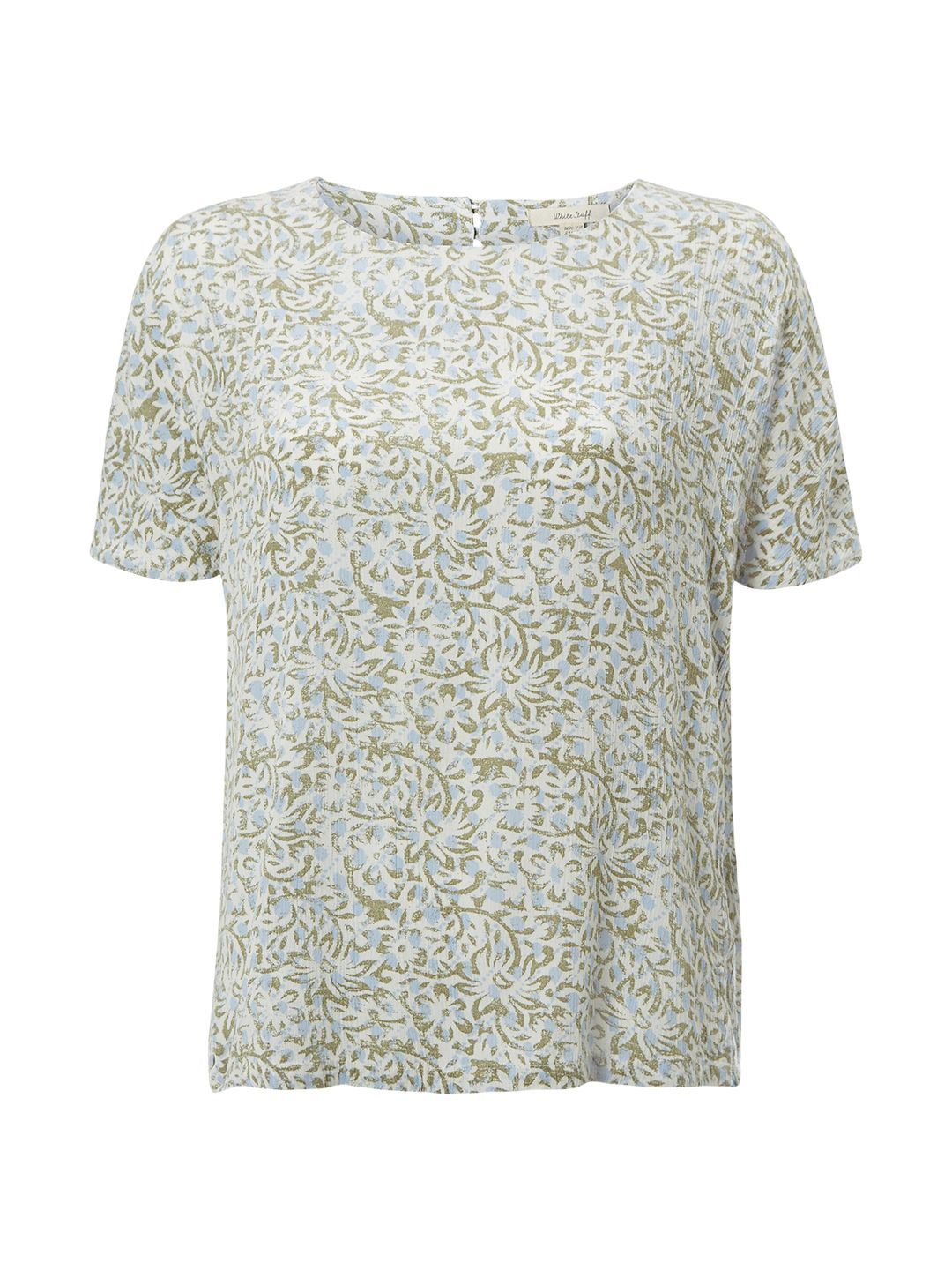White Stuff Karala Graphic Top, Green