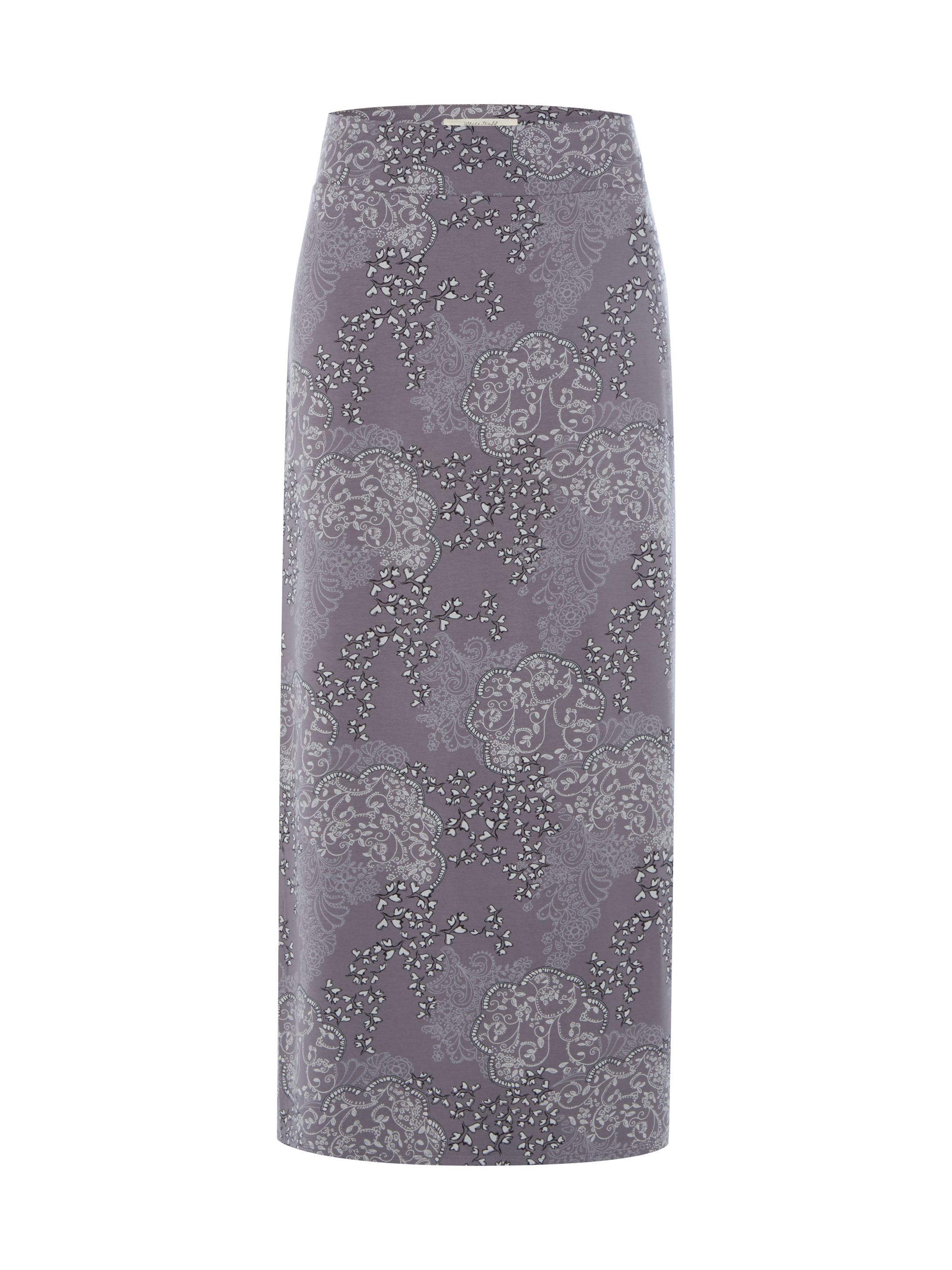 White Stuff Tumble Jersey Maxi Skirt, Grey